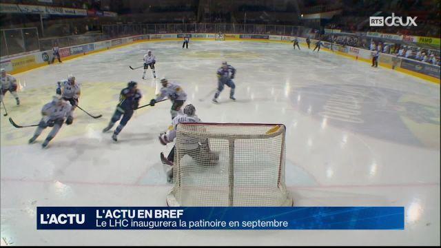 Le LHC inaugurera la patinoire en septembre