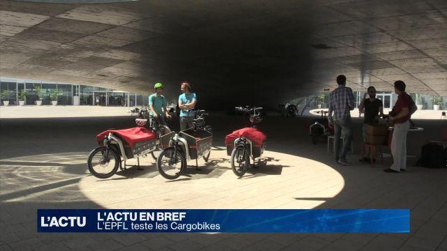 L'EPFL teste les Cargobikes