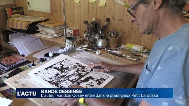 Le dessinateur vaudois Cosey entre dans le Petit Larousse