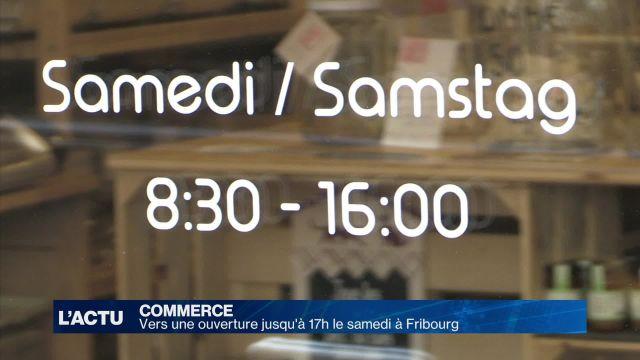 Vers une ouverture des commerces jusqu'à 17h à Fribourg