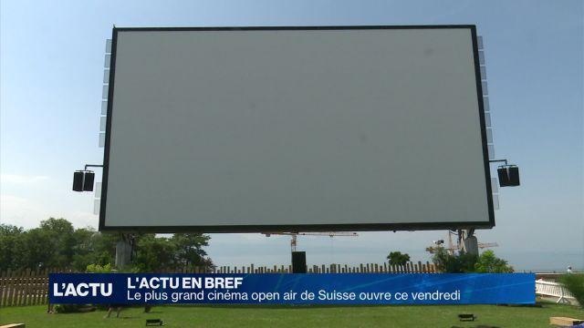 Le plus grand cinéma open air de Suisse ouvre ce vendredi