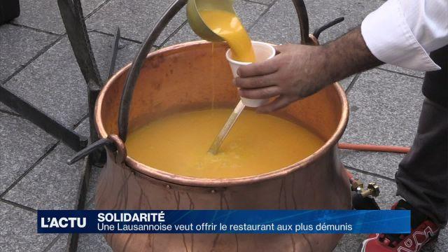 Une Lausannoise veut offrir le restaurant aux plus démunis