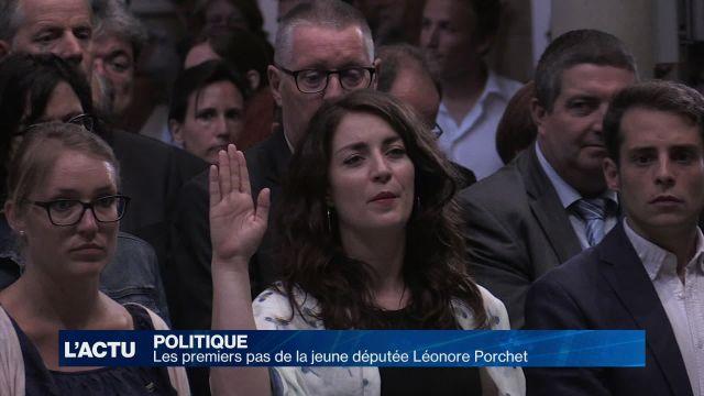 Les premiers pas de la jeune députée Léonore Porchet