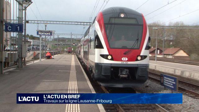 Travaux sur la ligne Lausanne-Fribourg
