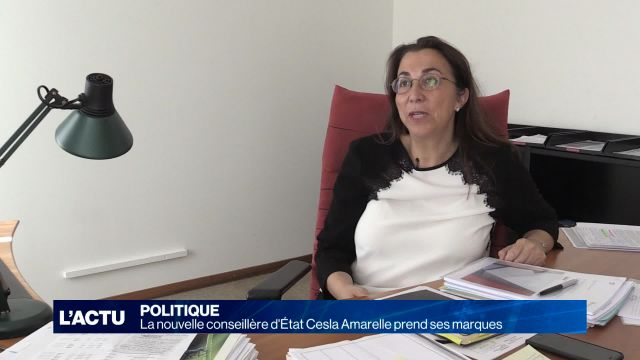 Cesla Amarelle prend ses fonctions au Conseil d'Etat