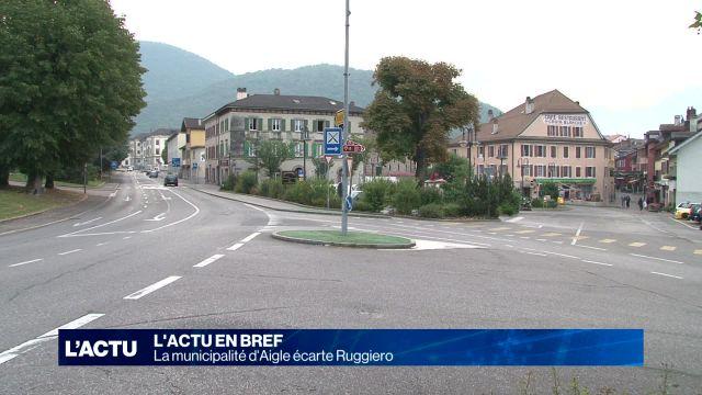 La Municipalité d'Aigle écarte Ruggiero
