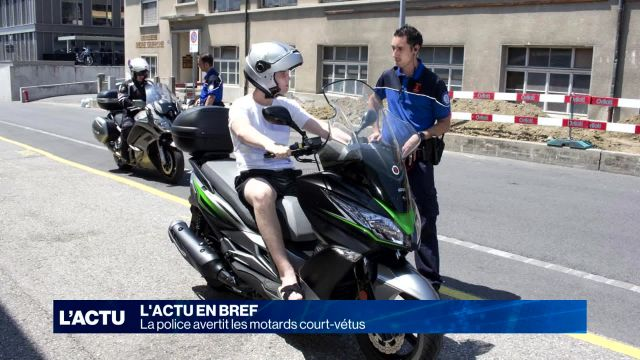 La police avertit les motards court-vêtus