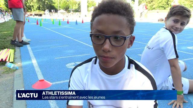 Les stars d'Athletissima s'entraînent avec des enfants
