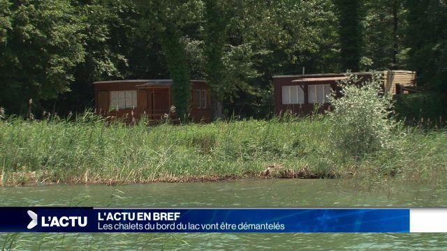 Les chalets du bord du lac vont être démantelés