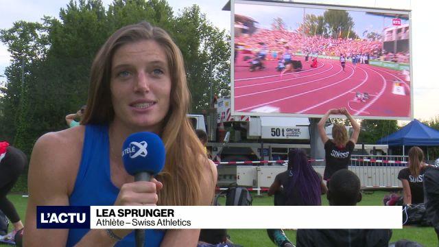 Lea Sprunger dans l'élite mondiale du 400m haies