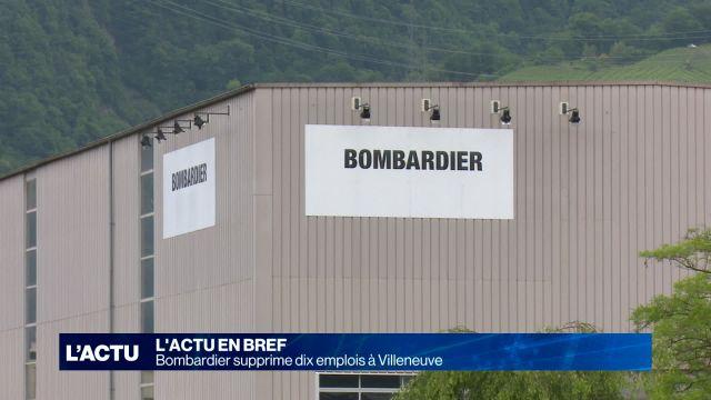 Bombardier supprime dix emplois à Villeneuve