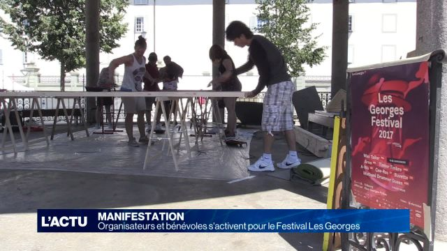 Préparatifs du Festival Les Georges à Fribourg