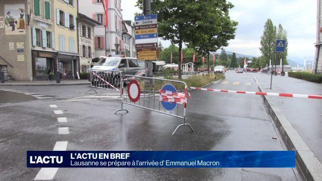 Sécurité renforcée pour la venue d'Emmanuel Macron.
