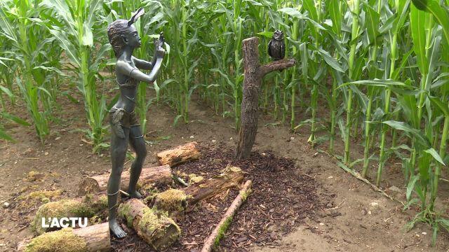 La culture s'invite dans le labyrinthe de maïs à Orbe