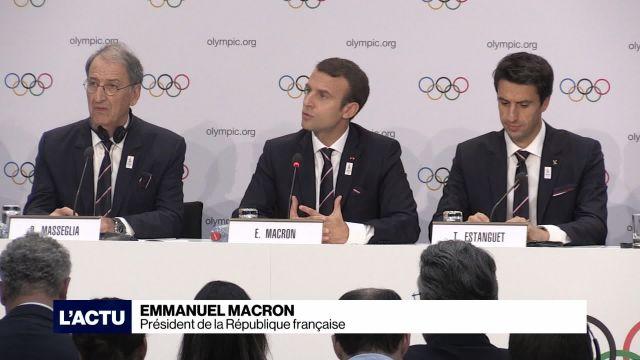 Emmanuel Macron défend la candidature de Paris aux JO