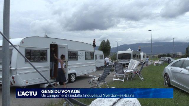 Les Gens du voyage reviennent à Yverdon les Bains
