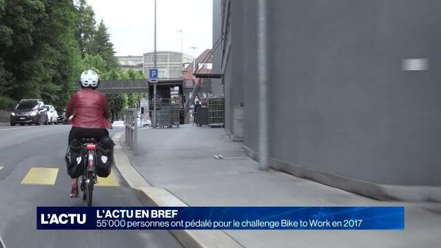 55'000 personnes ont pédalé pour le challenge Bike to Work