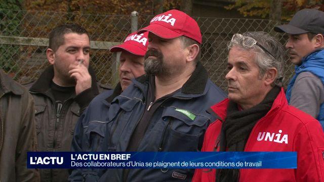 UNIA : Des employés se plaignent des conditions de travail