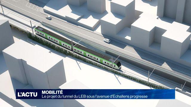 Le projet de tunnel sur la ligne du LEB progresse.