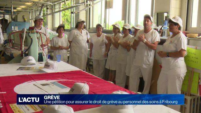Lutte pour le droit de grève pour le personnel de soins