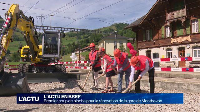 Premier coup de pioche pour la nouvelle gare de Montbovon