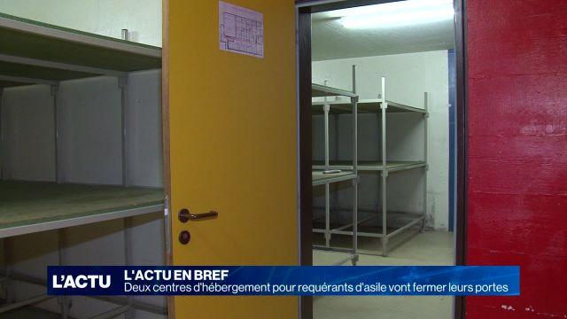 Deux centres d'hébergement de requérants d'asile vont fermer