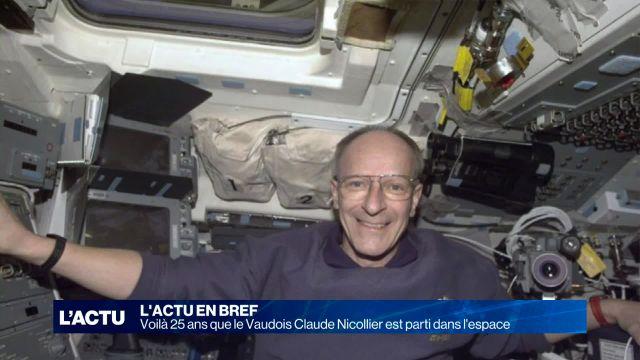 Claude Nicollier est parti dans l'espace il y a 25 ans