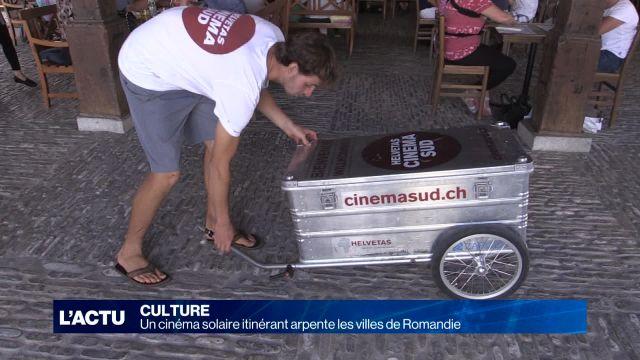 Un cinéma solaire itinérant arpente les villes de Romandie