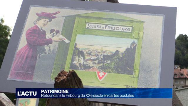 Retour dans le Fribourg du XXe siècle en cartes postales