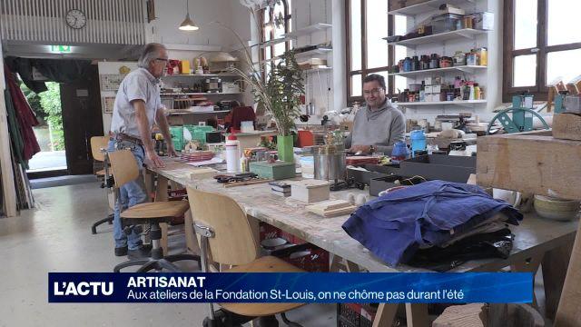 Visite de l'atelier d'artisanat de la fondation St-Louis