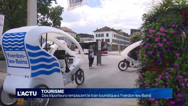 Les triporteurs remplacent le train touristique à Yverdon
