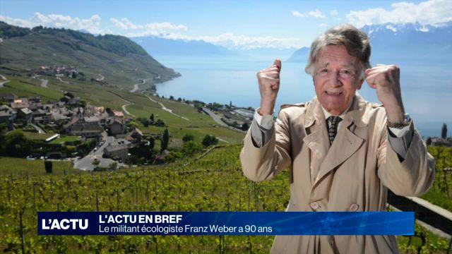 Le militant écologiste Franz Weber a 90 ans