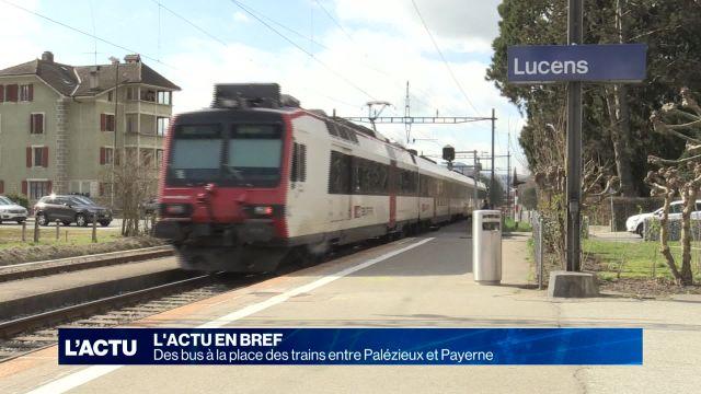 Des bus à la place des trains entre Palézieux et Payerne