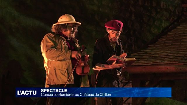 Concert de lumières au Château de Chillon