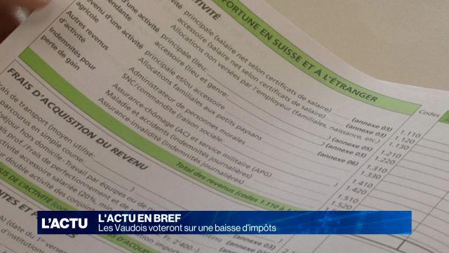 Les Vaudois voteront sur une baisse d'impôts