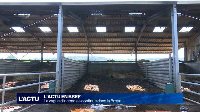 Près de 50 bovins meurent dans les flammes à Domdidier et Pa