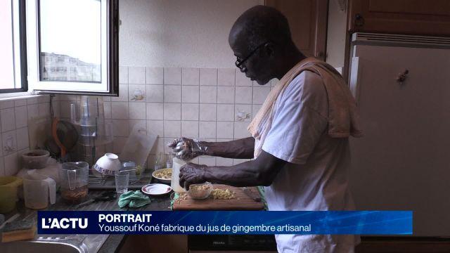 Youssouf Koné fabrique du jus de gingembre artisanal