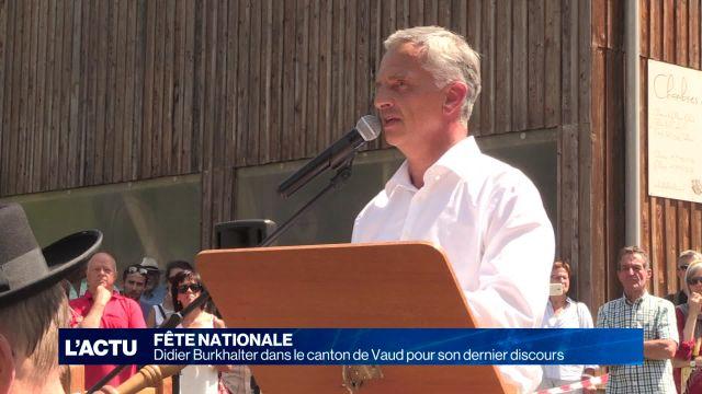 Burkhalter dans le canton de Vaud pour son dernier discours