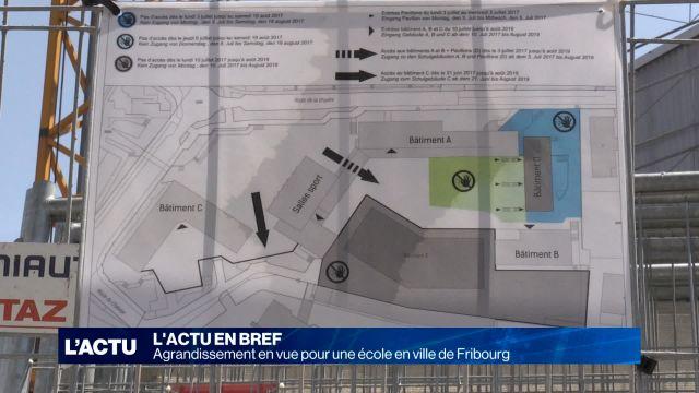 Agrandissement en vue pour une école en ville de Fribourg