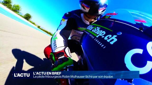 Le pilote fribourgeois Robin Mulhauser lâché par son équipe