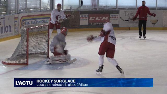Le Lausanne HC retrouve la glace à Villars