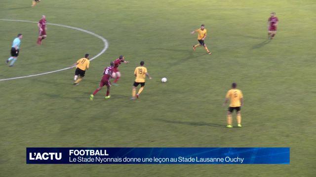 Le Stade Nyonnais donne une leçon au Stade Lausanne Ouchy
