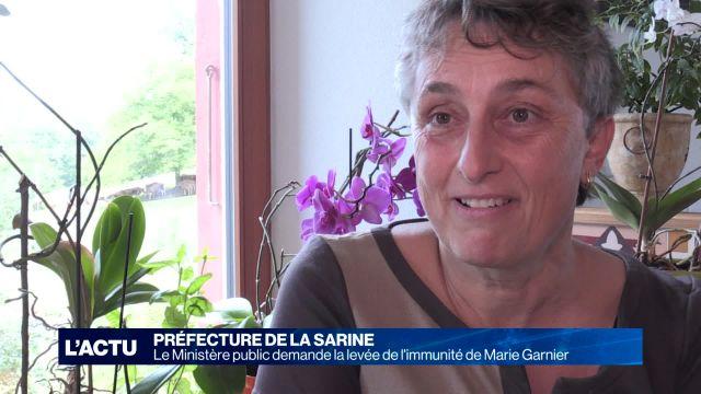 Le Ministère Public veut lever l'immunité de Marie Garnier