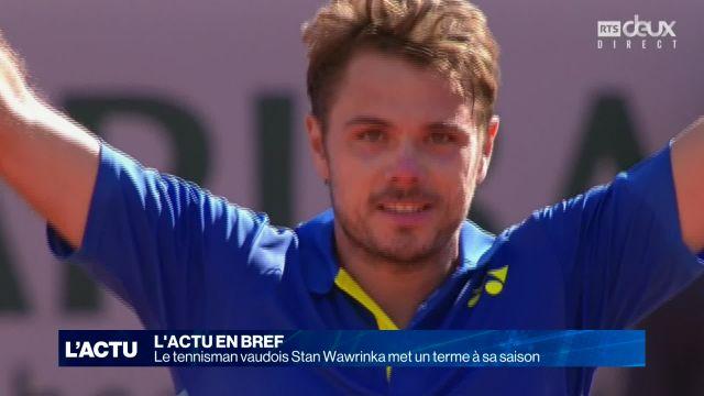 Saison terminée pour Stan Wawrinka