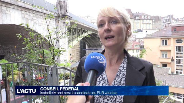 Isabelle Moret, candidate du PLR vaudois au Conseil fédéral