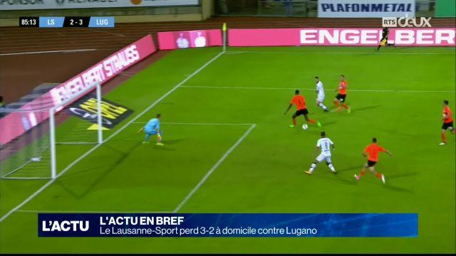 Le Lausanne-Sport perd 3-2 à domicile contre Lugano