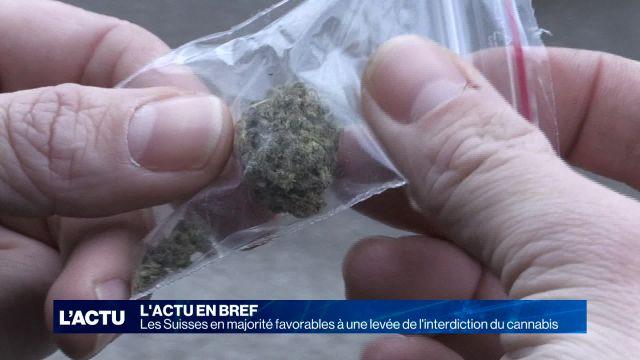 Les Suisses favorables à la légalisation du cannabis