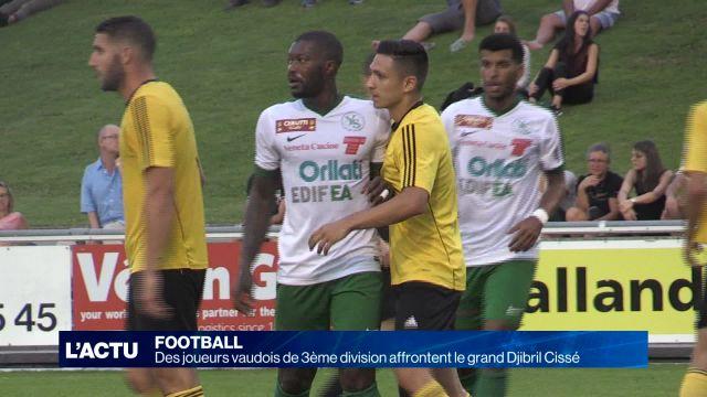 Foot: des joueurs de 3e division affrontent Djibril Cissé