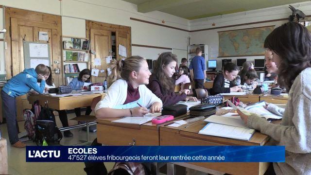 47'527 élèves fribourgeois feront leur rentrée cette année