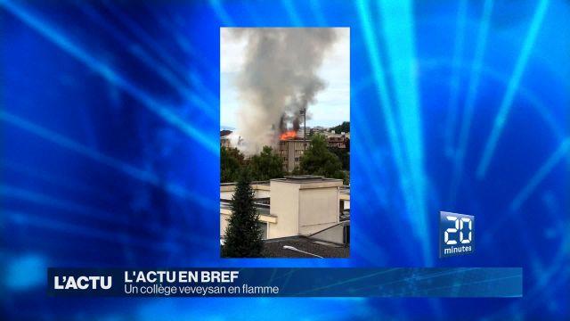 Un collège veveysan est la proie des flammes